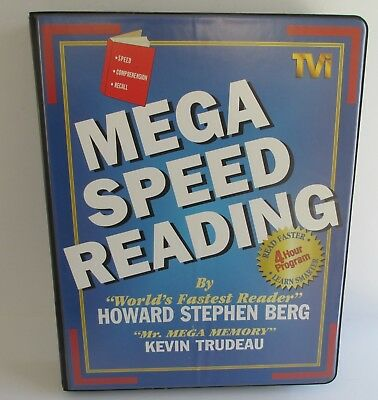 Mega speed reading howard stephen berg kevin trudeau 6 cassettesvhs mega speed reading by howard berg and kevin trudeau audio book malvernweather Image collections