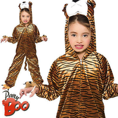 491c3f169b24 Tiger Age 11 12 13 Childs Fancy Dress Jungle Animal Book Week Boys Girls  Costume