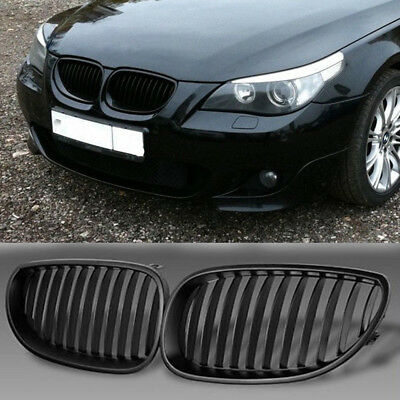 For BMW E60 E61 5 M5 Series Saloon Touring Matte Black Kidney Sport Front Grille