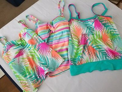 Women's Size Small Lot of 3 Swim Tankini Sporty Tank Top New Kathy Rodgers