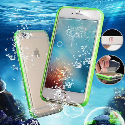 360° Waterproof Shockproof Hybrid Rubber TPU+PC Case Cover For iPhone 7 8 Plus