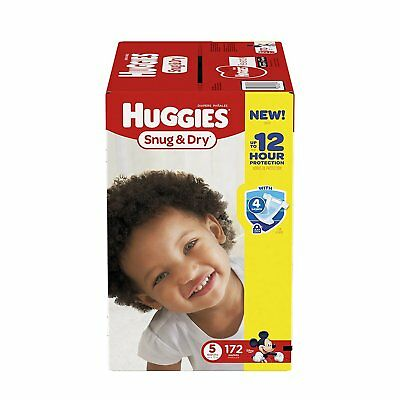 HUGGIES Snug & Dry Diapers, Size 5, 172 Count NEW Free Shipping