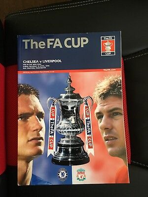 Fa Cup Programme Chelsea v Liverpool