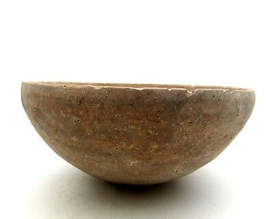 Indus Valley Terracotta Bowl W/ Geo - Ancient Rare Artifact Lovely - L315