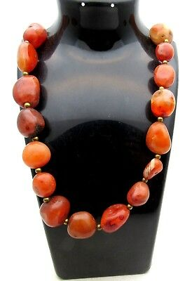 Viking Carnelian Necklace - Very Rare Wearable Artifact Fantastic - D474