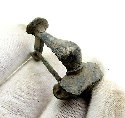 Roman Bronze Knee Brooch/fibula - Rare Ancient Historical Artifact Superb - D490