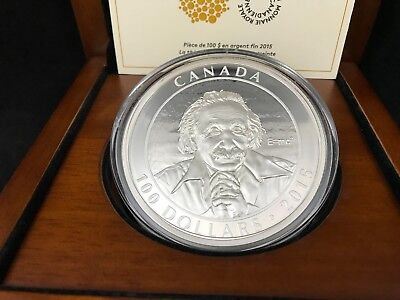 2015 10 oz Royal Canadian Mint $100 Albert Einstein Special Theory of Relativity