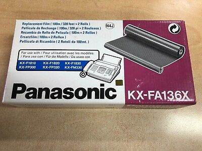 Genuine Black Panasonic KX-FA136X Replacement Film Ribbon x 2