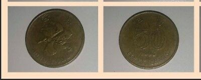Foreign Coins - Hong Kong - 50 cents