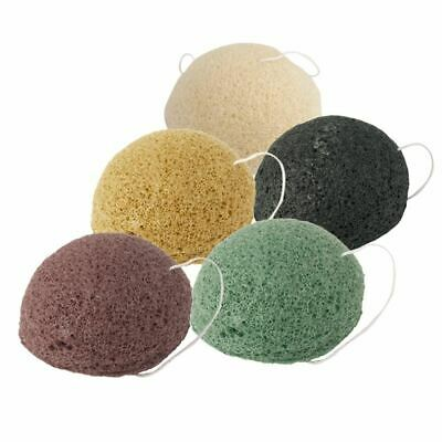 5 Colors Natural Konjac Sponge Facial Care Cleaning Washing Sponge Whitening Dee