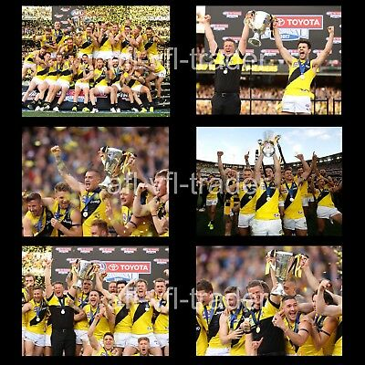 "6 X RICHMOND TIGERS AFL PREMIERS 2017 GRAND FINAL LARGE PHOTOS 6""x8"" (15x20cm)"
