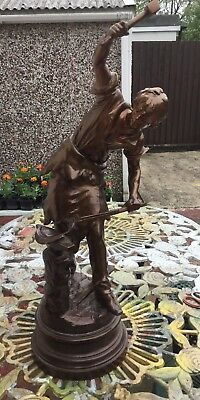 Continental Large Spelter Figure C1913 Signed R140