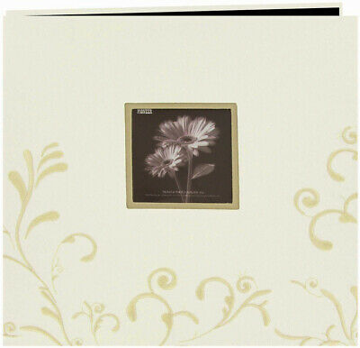 """Pioneer  Scroll Embroidery Fabric Post Bound Album 12""""X12""""-Ivory"""