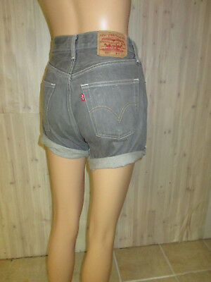 VINTAGE LEVIS 501 DENIM GRAY JEAN SHORTS sz 29 made in mexico
