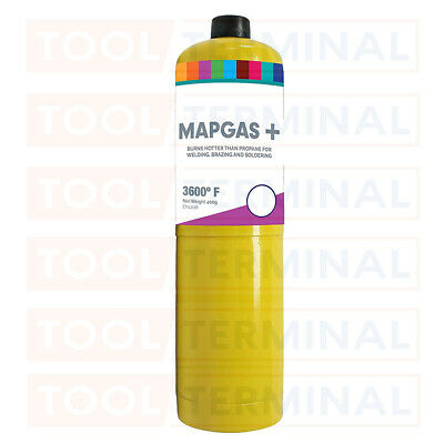 Yellow MAPP / MAP Pro Gas Cylinder 453g Disposable Bottle