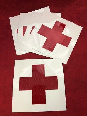 Decals Made in America p35 First Aid Vinyl Sticker Decals Red Cross 2 Pair 2