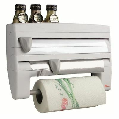 "Metaltex Kitchen Roll Dispenser ""Roll n Roll"", White"