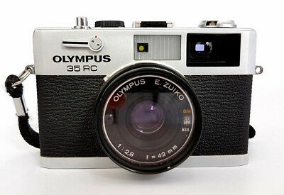 OLYMPUS 35 RC Rangefinder 35mm Film Camera with 42mm F/2.8 E.Zuiko Lens