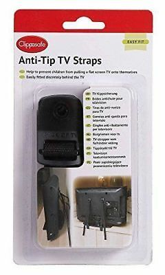 Clippasafe Anti-Tip TV Straps Baby Safety Flat Screen Monitor Harness Holder