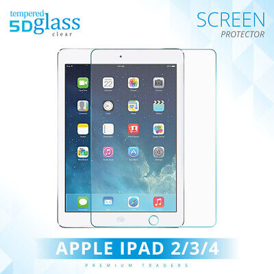 Real Genuine Tempered Glass Film Lcd Screen Protector For Apple Ipad 2 3 4 Uk