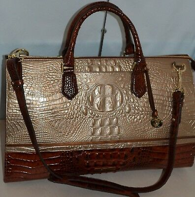 412ff006 Brahmin Anywhere Weekender Leather Travel Bag Rose Gold Provence New W/tag