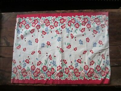 VINTAGE rectangle MID CENTURY TABLE RUNNER MCM housewife 50s Decor