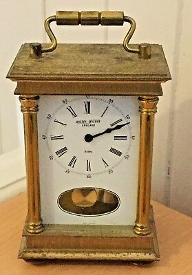 Vintage Carriage Clock by Anstey & Wilson. Pendulum 8 Day Made in West Germany