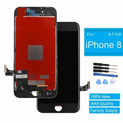 "For iPhone 8 4.7"" Screen Glass Replacement LCD Display 3D Touch Digitizer Black"