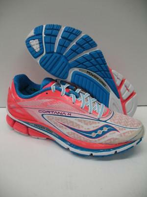 9c4f967f88a6 New Saucony Cortana 4 S10240-1 Running Training Shoes Sneakers White Pink  Womens