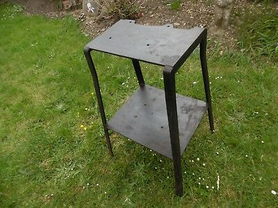 """Heavy Duty Stand for Large Vice/Anvil. Heavy Gauge Steel. 29"""" high Top 15"""" x 10"""""""