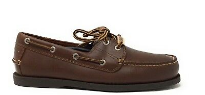 9993f2a057 Dockers Mens Vargas Leather Handsewn Boat Shoe Rust Leather Size 8.5 M US