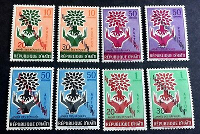 Haiti 8 wonderful old mint stamps alphabetisation **