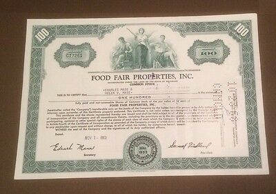 Food Fair Properties, Inc. 1962