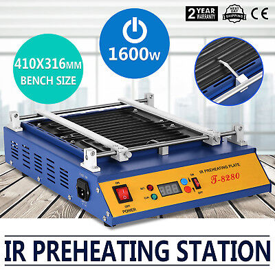 IR Preheating Oven T8280 Rework Station 280x270mm Pid Temperature Cut Through
