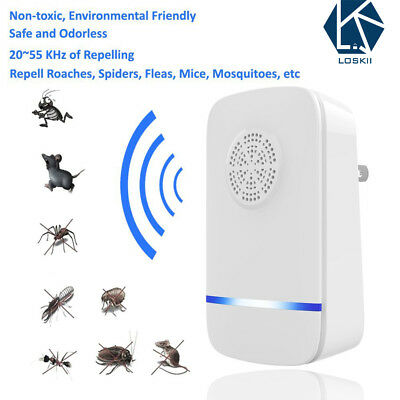 Ultrasonic Pest Repeller Electronic Control Repel Mouse Bed Bugs Roaches Killer