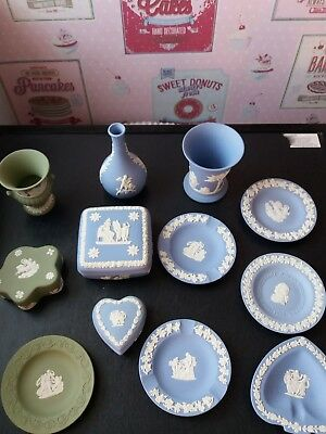 joblot sage green and blue wedgewood
