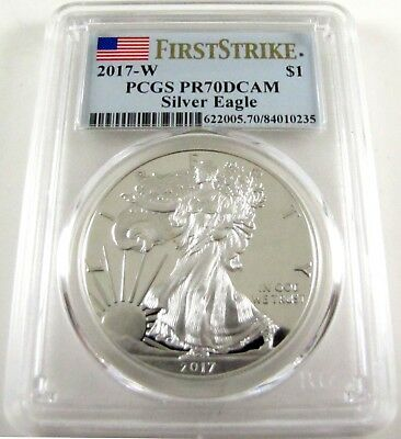 2017 W Proof American Silver Eagle PCGS PR70 DCAM First Strike