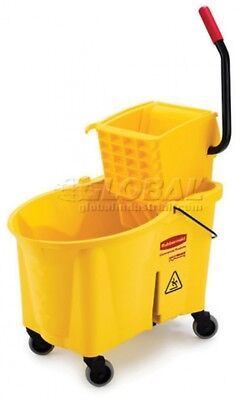 Rubbermaid Wavebrake Mop Bucket And Wringer Combo W/Side Pressure - 44 Qt.