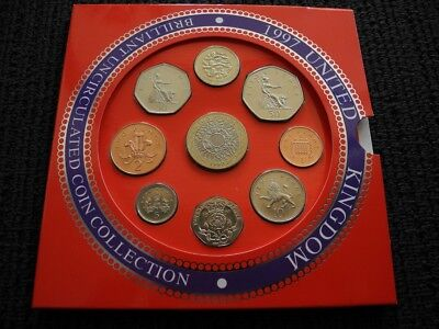 1997 Royal Mint Brilliant UNC Coin Year Set in Pack