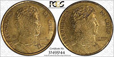 (2011) Chile PCGS MS61 Mule Two-Headed only 5 Certified RicksCafeAmerican.com