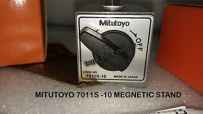 Genuine Mitutoyo Magnetic Base 7011S -10 For Dial Indicator & Gauges Japan Made