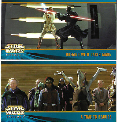 Star Wars Episode 1 -  S2 - Oversized 4 x 7 Promos Cards OS1 & OS2 - TOPPS 1999