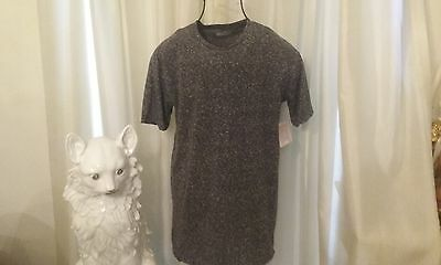 LuLaRoe T-SHIRT MEDIUM - BLACK/GREY WITH WHITE SPECKLES - NWT