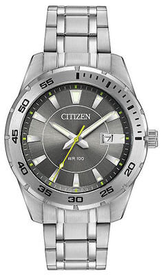 NEW Citizen BI1040-50H Grey Dial Stainless Men's Watch