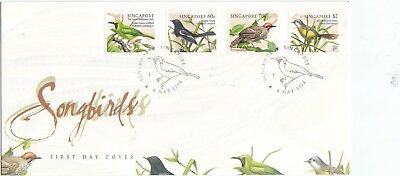 "Singapore, 1998,""song - Birds"" Stamp Set On Gpo Fdc Fresh Good Condition"