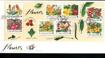 "Singapore, 1998, ""singapore Flowers"" S/s On Gpo Fdc Fresh Condition"