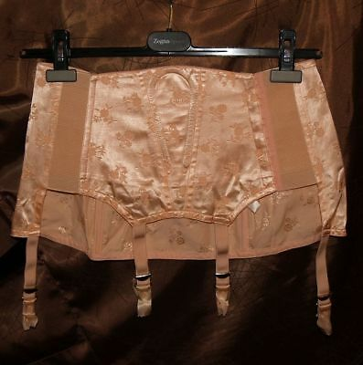 Vintage Felina Satin Garterbelt Open Bottom girdle garter belt