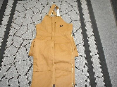 New Mens DICKIES INSULATED OVERALLS Coat Pants Suit SIZE L  -NEW