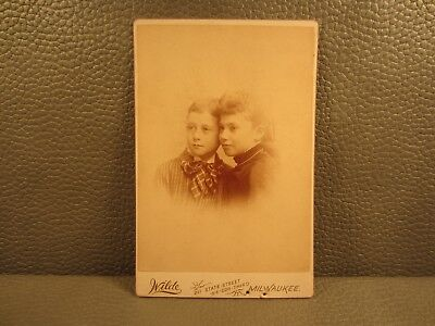 Victorian Antique Cabinet Card Photo of Brother & Sister, Siblings,Kids,Children