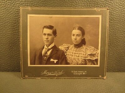 Victorian Antique Cabinet Card Photo of A Lovely Couple